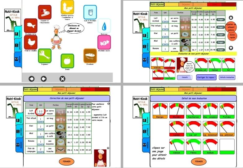 Le logiciel interactif de conseils en nutrition pour les patients diabétiques Nutri-Educ. Crédits : Hôpitaux de Toulouse - ENSEEIHT/IRIT.