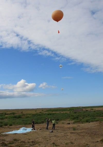 Release of the first balloon on 19 July in Keflavík, Iceland. Credits: CNES.