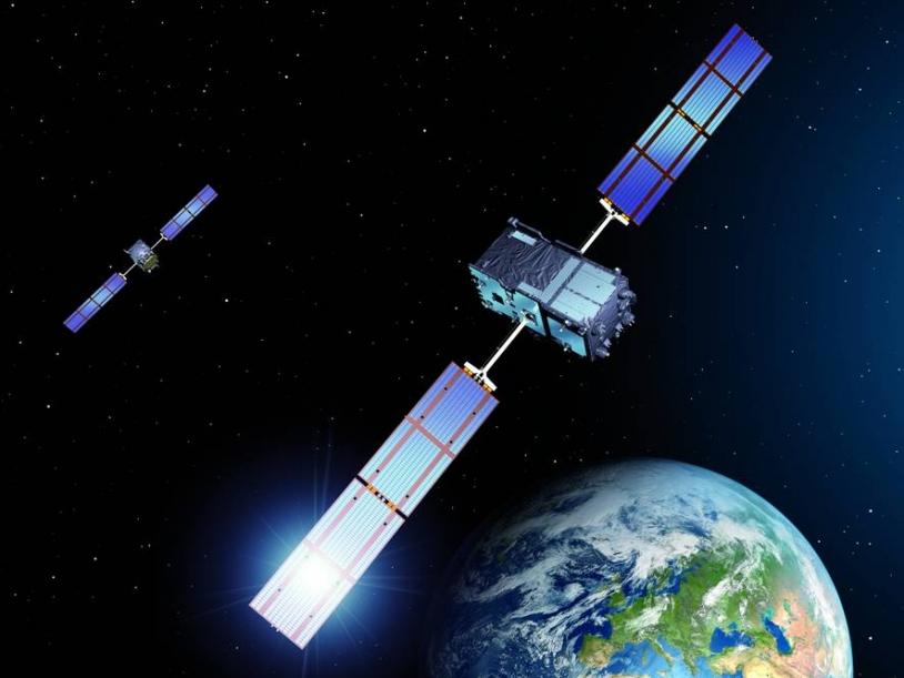 Les 2 premiers satellites de la constellation Galileo devraient être mis en orbite le 20 octobre. Crédits : Astrium.