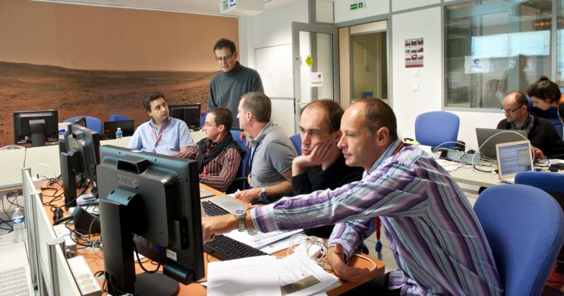Centre de mission, FIMOC, de MSL au CNES, à Toulouse. Crédits : CNES/S.GIRARD, 2011.