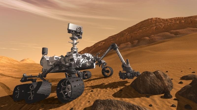 Rover Curiosity de MSL. Crédits : Ill. NASA/JPL-Caltech.