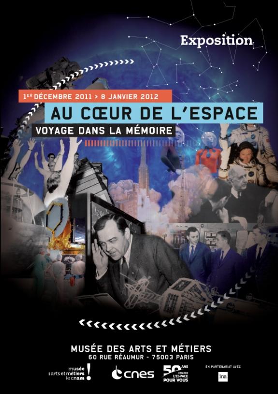 Au coeur de l'espace exhibition poster
