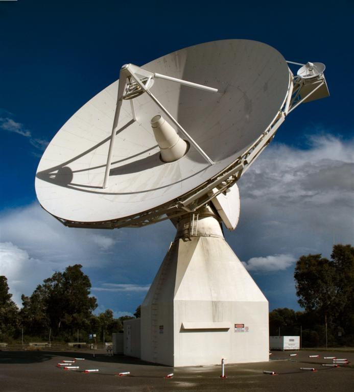ESA's ground station antenna in Perth, Australia. Credits: ESA.