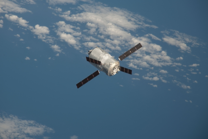 ATV-3 in free flight. Credits: NASA.