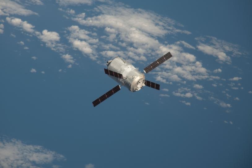 ATV-3 in free flight. Credits: NASA.