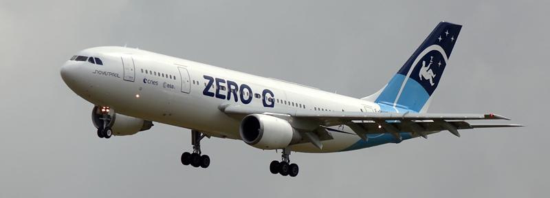 Airbus A300 ZERO-G de Novespace. Crédits : CNES, Novespace.