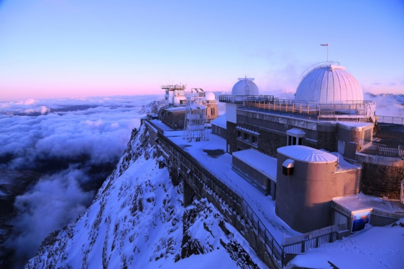 The Pic du Midi Observatory in the French Pyrenees, perched at an altitude of 2,877 metres. Credits: Pic du Midi.