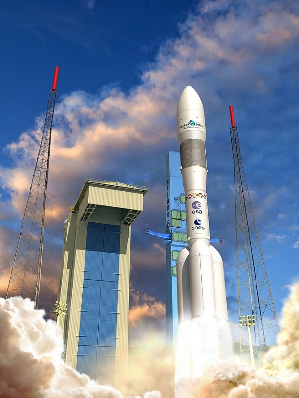 Come and meet the engineers conceiving the future Ariane 6 launcher at CNES's Launch Vehicles Directorate in Paris on 24 May at the kick-off event preceding the first SpaceUp Paris. Credits: CNES/ill./David Ducros, 2013.