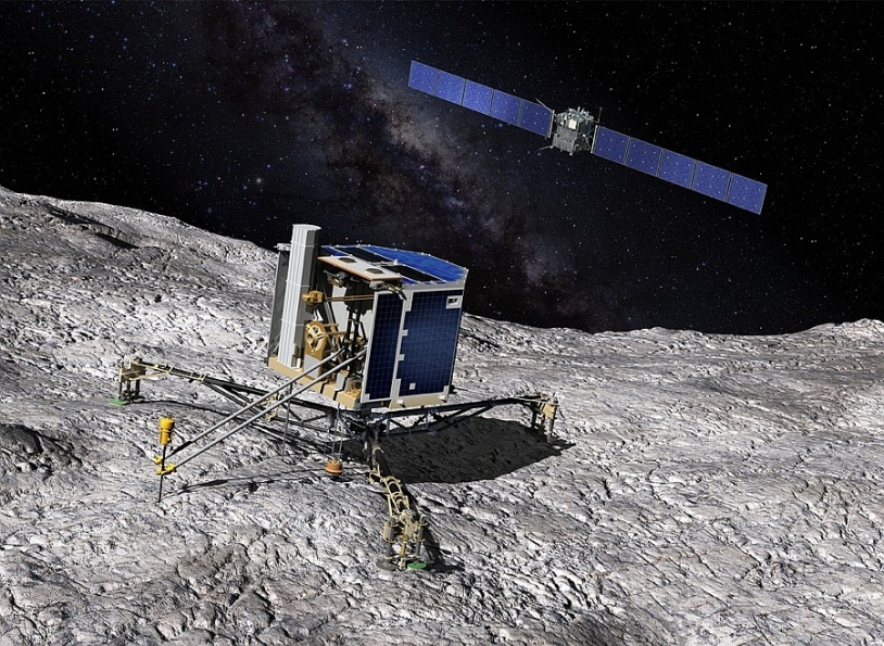 The Philae lander will be dropped onto the comet in November. Credits: CNES / ill. D. Ducros.