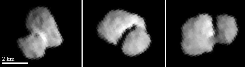 Ces images ont été obtenues par la caméra OSIRIS-NAC de Rosetta, le 20 juillet 2014, une image toutes les 2 h, à une distance de 5 500 km environ. Crédits : ESA/Rosetta/MPS for OSIRIS Team MPS/UPD/LAM/IAA/SSO/INTA/UPM/DASP/IDA.