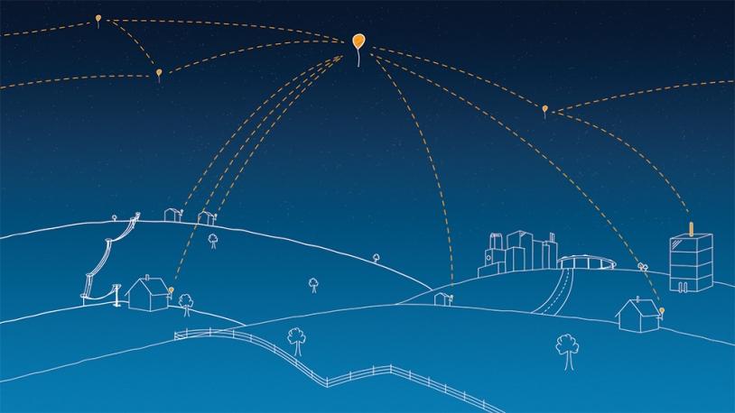 Loon, un réseau internet flottant! Crédits: Google.
