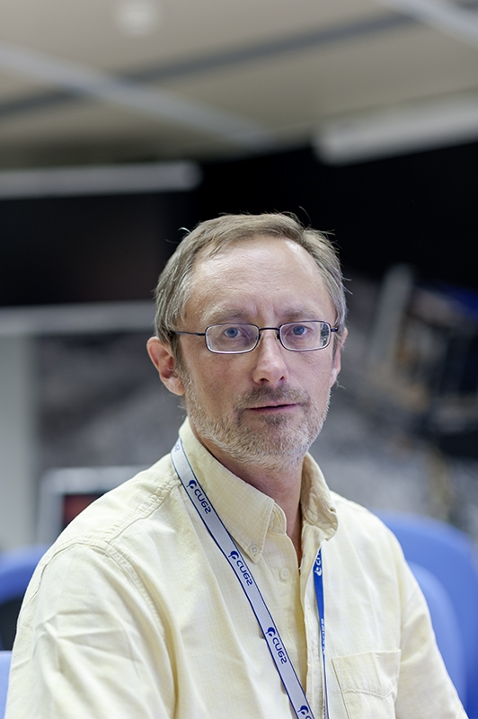 Philippe Gaudon, head of the Rosetta project at CNES, on SONC premises (CNES-Toulouse). Credits: CNES/G. Cannat.