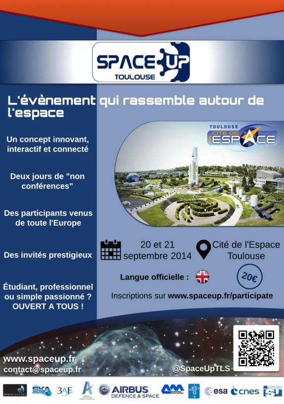 Affiche de SpaceUp Toulouse 2014. Crédits : SpaceUp.