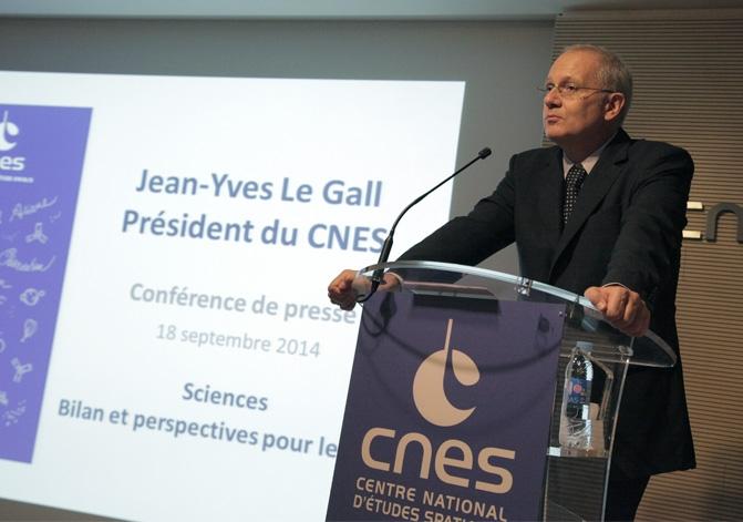 Jean-Yves Le Gall, président du CNES. Crédits : CNES/S. Charrier.
