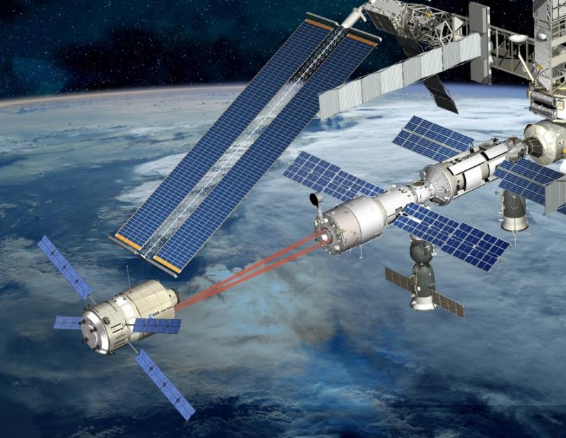 ATV docking to the station. Crédits : ESA/D. Ducros