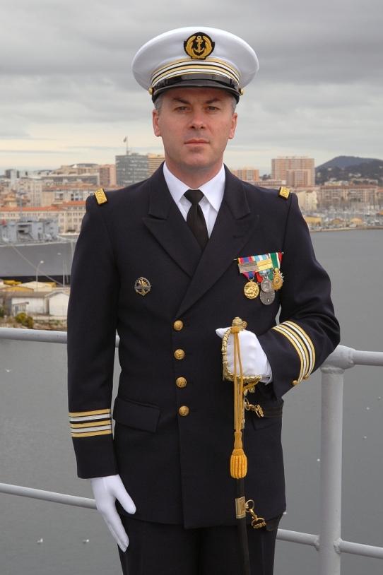 Le commandant du Jules, Capitaine de Frégate Thierry Ruffier. Crédits : Marine Nationale