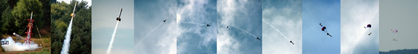 Largage d'un Cansat par une fusée expérimentale. Crédits : CNES.