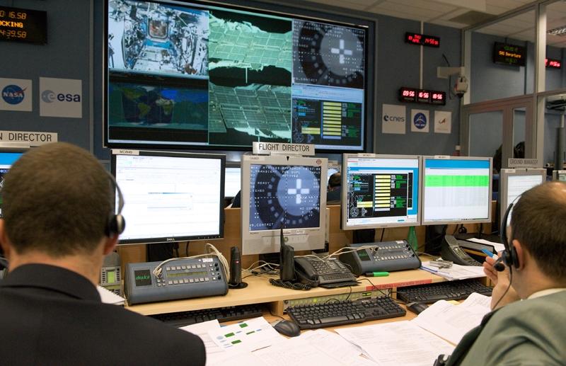 The ATV-CC. Credits : CNES/S. Girard, 2008.