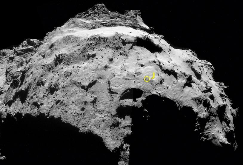 Assemblage des 4 images du 30 septembre réalisé par l'amateur Mattias Malmer. Crédits : ESA/Rosetta/NavCam/Mattias Malmer.