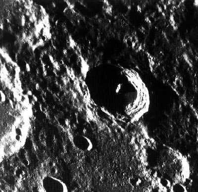 Close-up of Mercury's crater-studded surface, courtesy of NASA