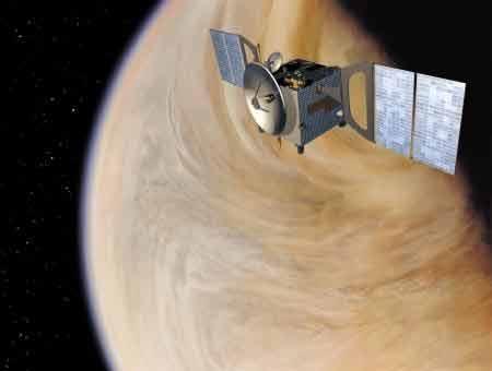 Artist's impression of Venus Express. Credits : ESA, illustrated by Medialab