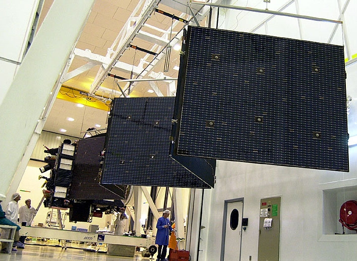 Test of the solar arrays deployment. Credits: ESA/CNES/Arianespace