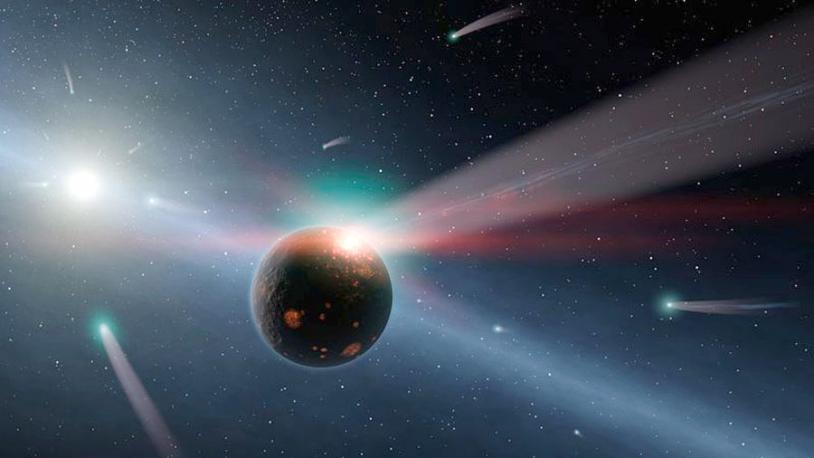 Rosetta et ROSINA relancent le débat sur l'origine de l'eau et de l'atmosphère terrestres. Crédits : NASA/JPL-Caltech.