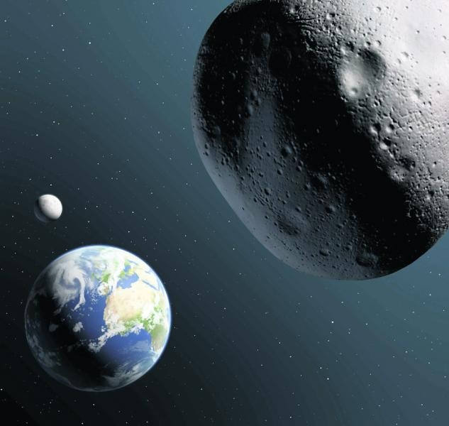 Astéroïde Apophis. Crédits : CNES/Ill. P. Carril.