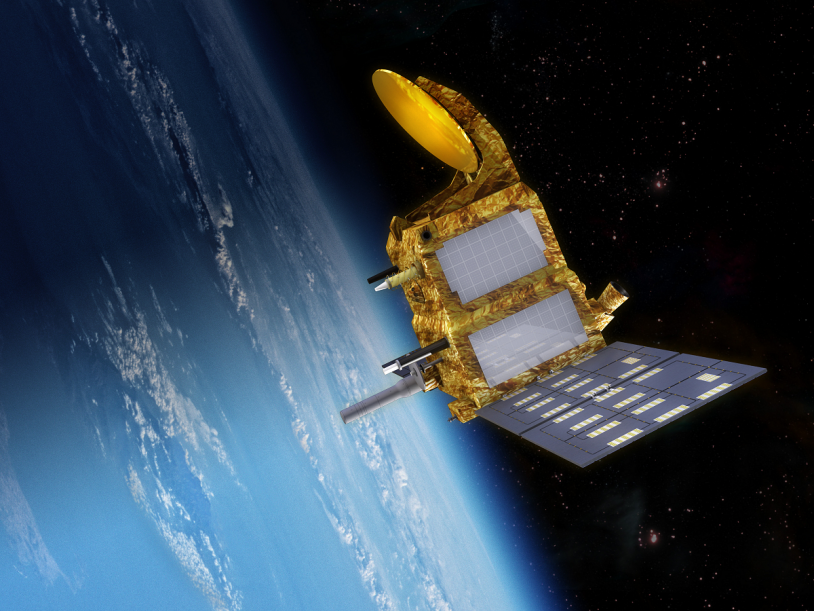 La satellite SARAL sera placé sur une orbite à 800 km d'altitude. Crédits : CNES.