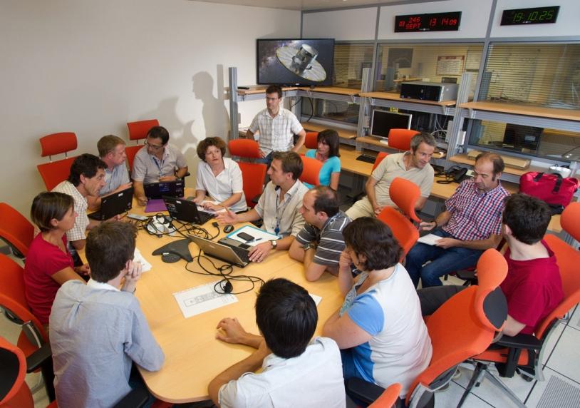 Répétition générale au centre de calcul de Gaia au CNES, à Toulouse, du 28 août au 6 septembre 2013. Crédits : CNES/Emmanuel GRIMAULT, 2013.