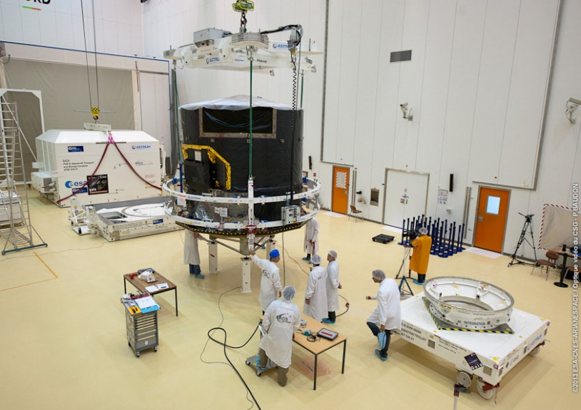 Gaia au Centre spatial guyanais, en août 2013. Crédits : ESA/CNES/Arianespace/Optique vidéo du CSG/P. Baudon.