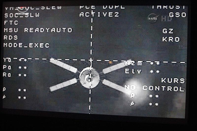 L'ATV-4 Albert Einstein a quitté l'ISS lundi 28 octobre 2013 à 9h55 (Paris). Crédits : NASA.
