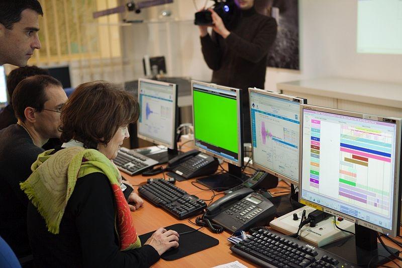 L'un des 4 centres de mission de Rosetta, le SONC, a été installé au Centre spatial de Toulouse. Crédits : CNES/CHETRIT Jacob.