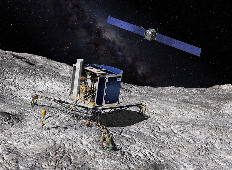 L'atterrisseur Philae doit se poser sur la comète en novembre 2014. Crédits : CNES/ill. D. Ducros.