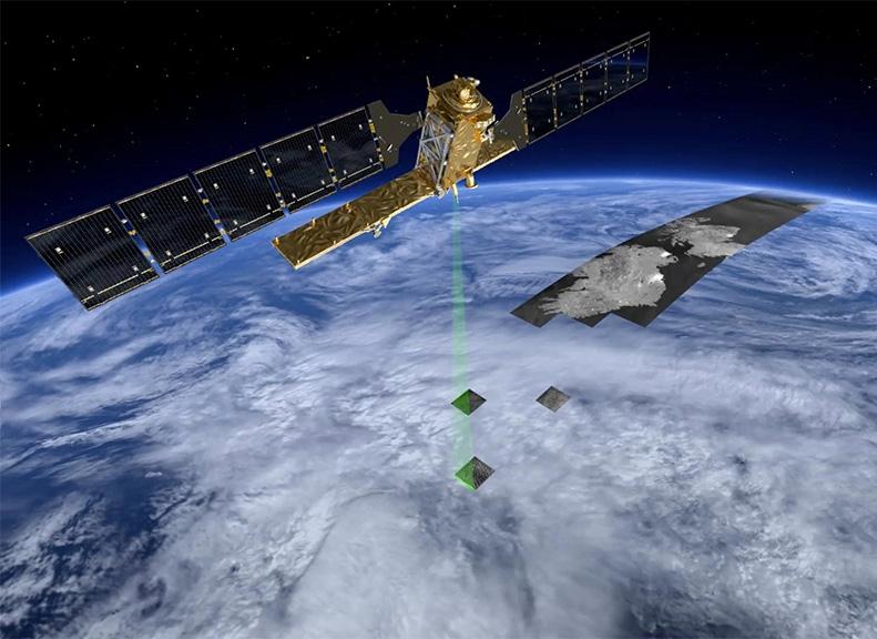Le satellite Sentinelle-1A devra fournir des images radar de la surface de la Terre. Crédits : ESA/P. Carril.