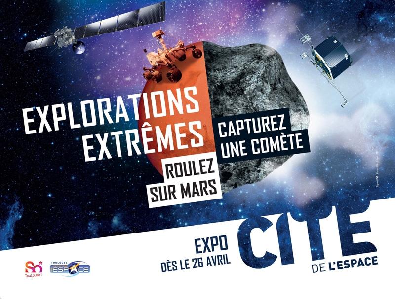 Exposition « Explorations extrêmes » à la Cité de l'espace, à Toulouse, à partir du 26 avril 2014. Crédits : Cité de l'espace.