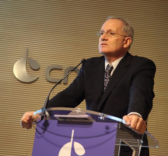 Le président du CNES, Jean-Yves Le Gall, a présenté ses voeux à la presse, lundi 5 janvier 2015, à Paris. Crédits : CNES/S. Charrier.