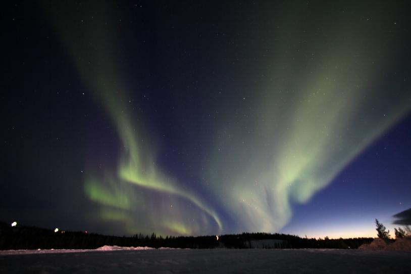 Aurore boréale à Kiruna