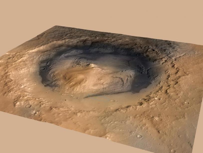 Le cratère Gale, nouvelle résidence de Curiosity