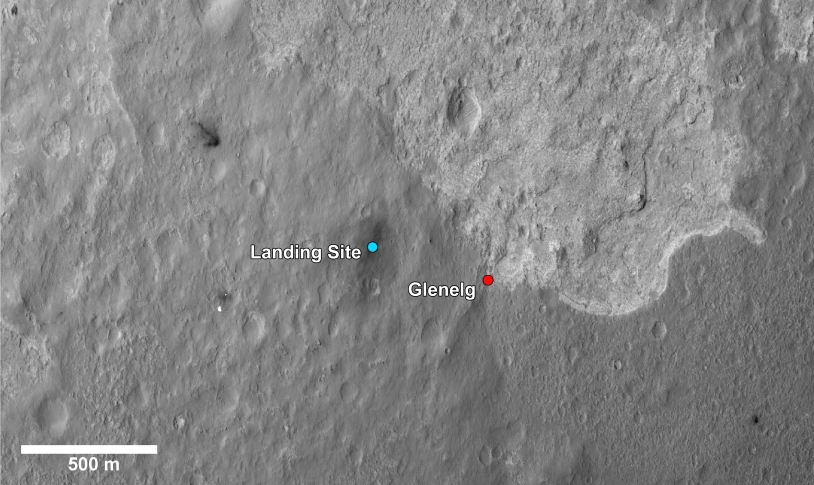 Le site de Glenegl, future destination de Curiosity