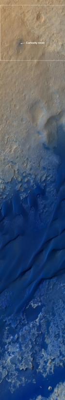 Curiosity et son environnement observés par MRO