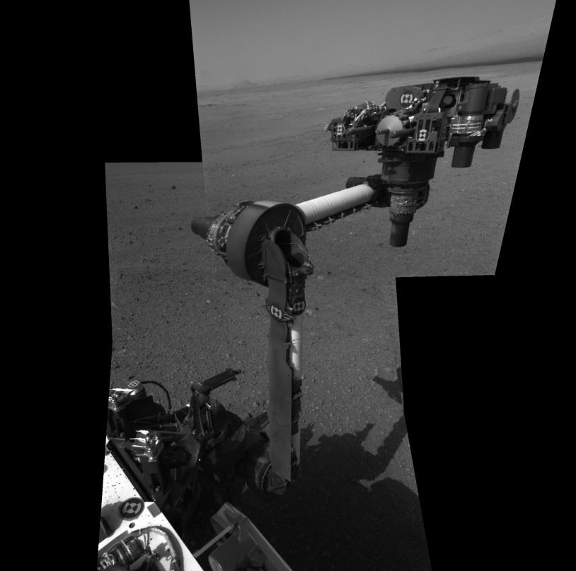 Extension du bras robotique de Curiosity