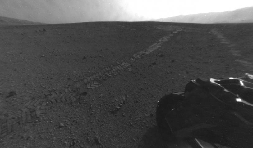 Les traces de roues de Curiosity
